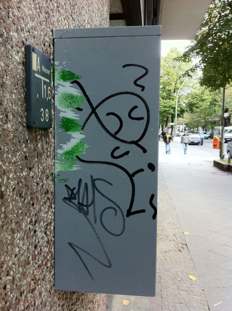 My name in graffiti on a mail box
