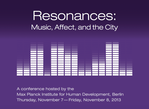"The header from the poster for the ""Resonances"" conference."